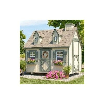 Little Cottage Company Cape Cod Small Playhouse Kit with Floor