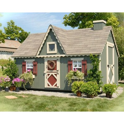 Little Cottage Company Victorian Playhouse Kit with Floor