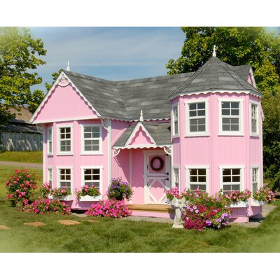 Little Cottage Company Sara's Victorian Mansion Playhouse Kit with Floor VMK