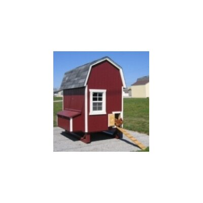 Little Cottage Company Gambrel Barn Chicken House with Nesting Box and Ramp