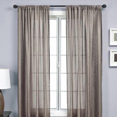 Softline Home Fashions Gigi Curtain Panel in Concrete
