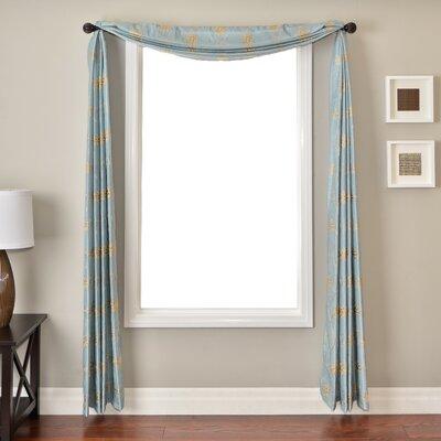 Softline Home Fashions Sutton 6 Yard Rod Pocket Single Window Scarf