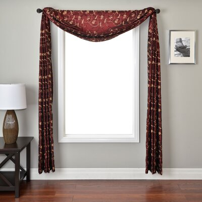 Softline Home Fashions Lili Window Scarf in Merlot