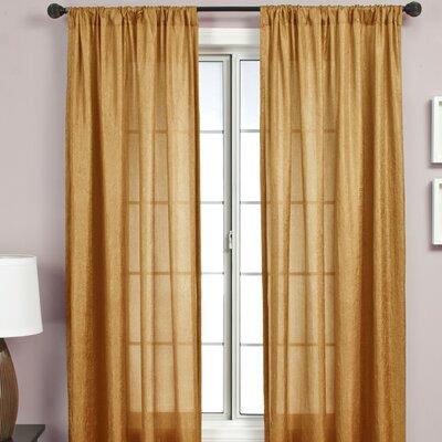 Softline Home Fashions Gigi Rod Pocket Single Curtain Panel
