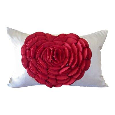 Debage Inc. Rose Petals Heart Lumbar Pillow