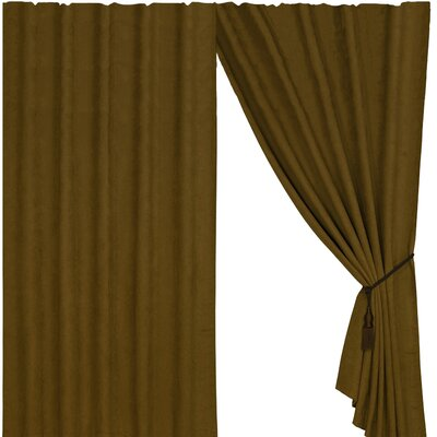 Black Pine Suede Curtain in Tan Product Photo