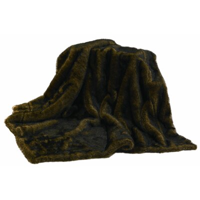 Mink Faux Fur Throw Blanket by HiEnd Accents