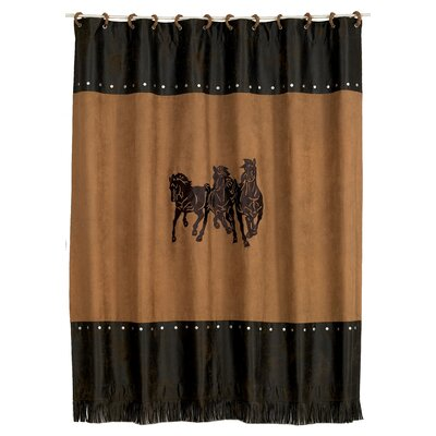 3 Horse Embroidered Shower Curtain by HiEnd Accents