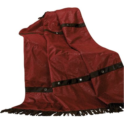 Cheyenne Fringed Throw Blanket by HiEnd Accents