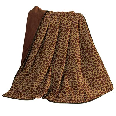 Austin Leopard Faux Leather Throw by HiEnd Accents
