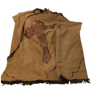 Cross Barbwire Faux Suede Throw by HiEnd Accents