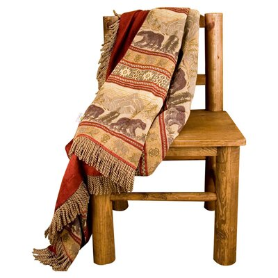 Bear Reversible Throw Blanket by HiEnd Accents