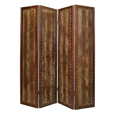 """Screen Gems 86"""" x 76"""" Double Sided Reptillian Screen 4 Panel Room Divider"""