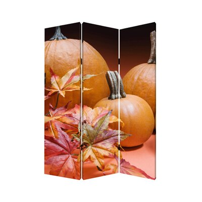 "Screen Gems 71"" x 47"" Harvest Screen 3 Panel Room Divider"