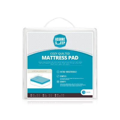 Assure Sleep Quilted Mattress Pad by LaCozee