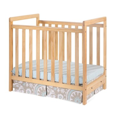 Bentley Euro Mini Clear Choice Convertible Crib with Mattress by Foundations
