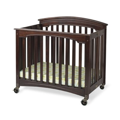 Royale Fixed Side Folding Compact Convertible Crib with Mattress by Foundations