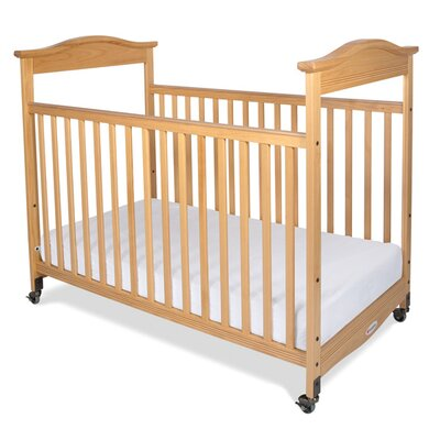 Foundations Biltmore Safereach Fixed Side Clearview Compact Convertible Crib with Mattress
