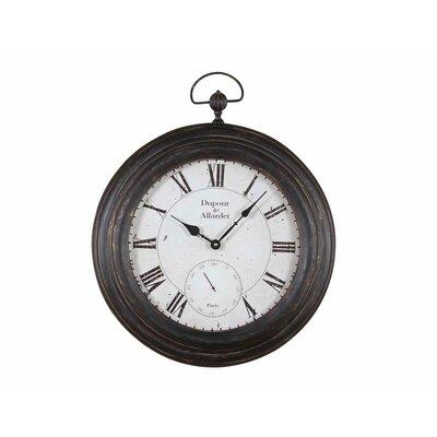 Metal Pocket Wall Clock by Creative Co-Op
