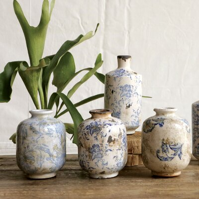 Indigo Terra Cotta Vase by Creative Co-Op