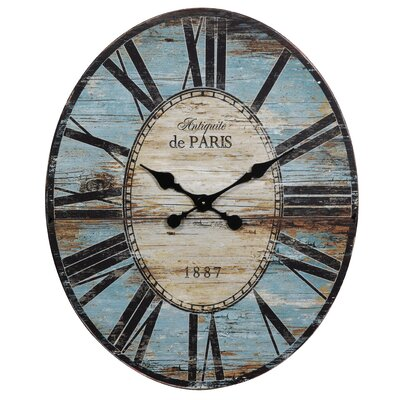 Oversized Wall Clock by Creative Co-Op