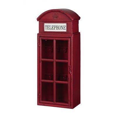 """Creative Co-Op Metal """"Telephone"""" 1 Door Wall Cabinet"""