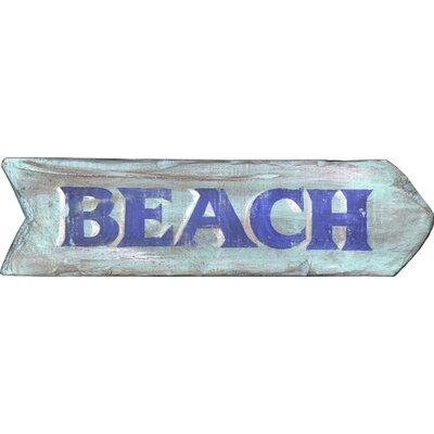 "Vintage Signs Vintage ""Beach"" Wall Décor"