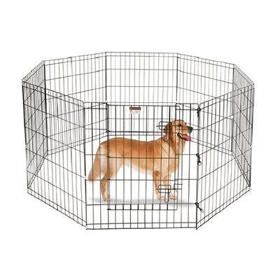 Flat Folding Wire Dog Play Pen Rust and Scratch Resistant