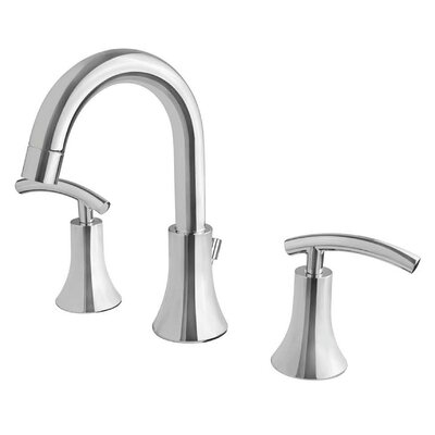 Contemporary Double Handle Widespread Bathroom Faucet Product Photo
