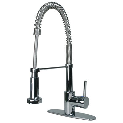 Ultra Faucets Single Handle Single Hole Cold Water Dispenser Kitchen Faucet with Pull Down Spout