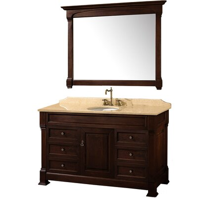 "Andover 55"" Single Bathroom Vanity Set with Mirror Product Photo"
