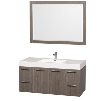 "Amare 47"" Single Bathroom Vanity Set with Mirror Product Photo"