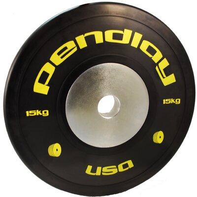 15kg Elite Black Bumper Plates in Colored Ink by Pendlay