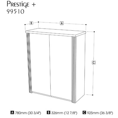 Bestar Prestige + 2 Door Storage Cabinet