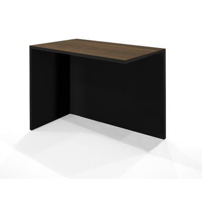 Bestar Pro-Concept Return Table in Milk Chocolate Bamboo and Black