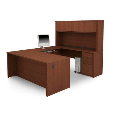 Bestar Prestige + U-Shape Desk with Hutch