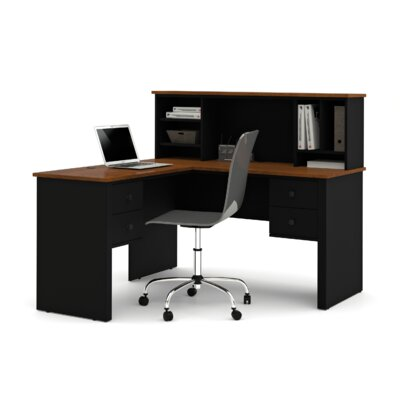 Bestar Somerville Corner Executive Desk with Hutch