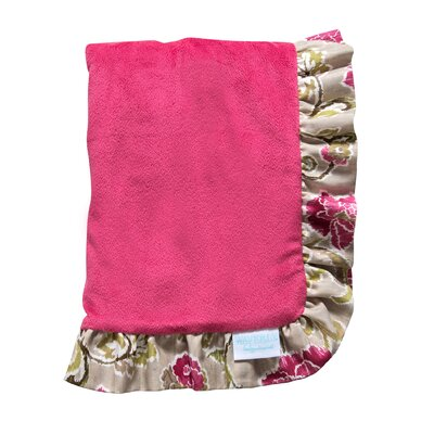 Waverly® Jazzberry Ruffle Trimmed Receiving Blanket by Trend Lab