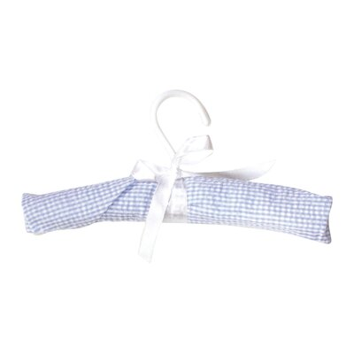 Trend Lab Gingham Seersucker Four Piece Padded Hangers in Blue