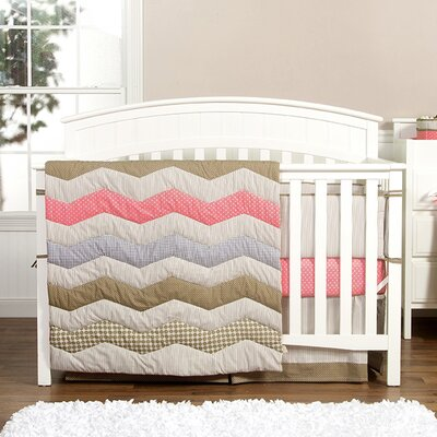 Cocoa Coral 3 Piece Crib Bedding Set by Trend Lab