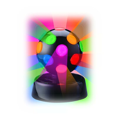 """Creative Motion Rotating Disco Ball Light 6.5"""" H Table Lamp with Sphere Shade"""