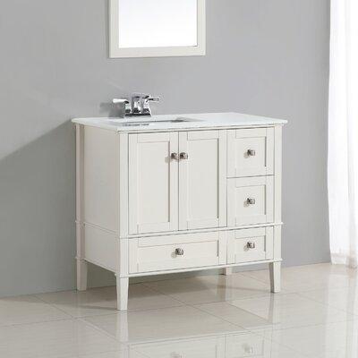 "Chelsea 37"" Single Left Offset Bath Vanity Set Product Photo"