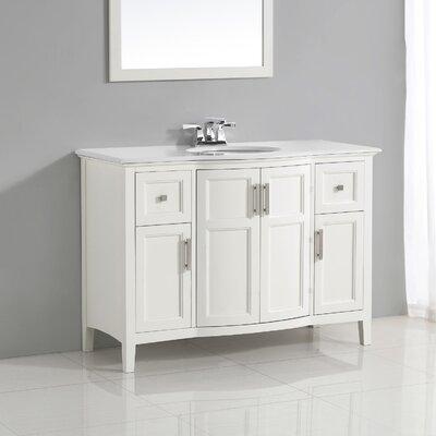 """Winston 49"""" Single Rounded Front Bath Vanity Set Product Photo"""