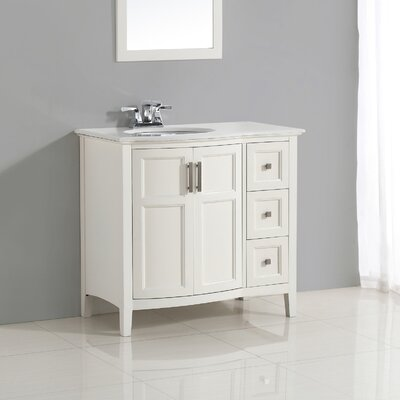 "Winston 37"" Single Rounded Front Bath Vanity Set Product Photo"