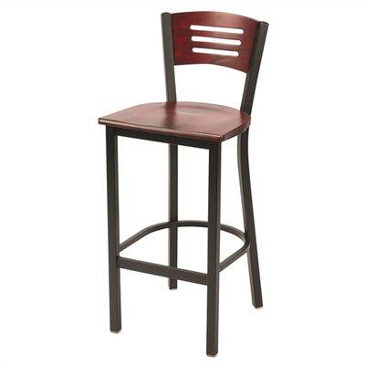 """KFI Seating Mahogany 30"""" Bar Stool"""