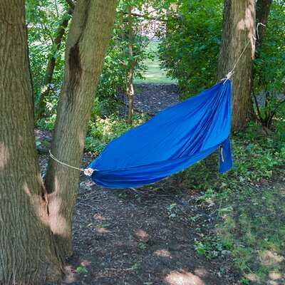 Equipped Outdoors Portable Parachute Camping Hammock by Black Mountain Products