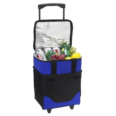 Picnic At Ascot 32 Can Collapsible Rolling Cooler