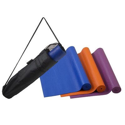 Picnic At Ascot Yoga Mat and Bag in Royal Blue