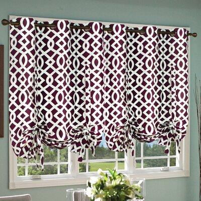 Trellis Tie-Up Curtain Single Panel Product Photo