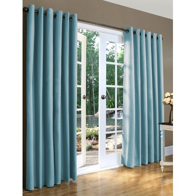 Weathermate Solid Cotton Grommet Top Curtain (Set of 2) (Set of 2) Product Photo